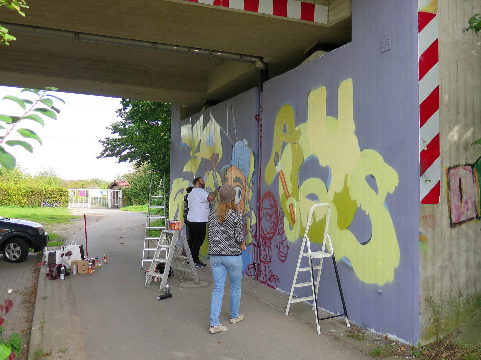 Workshop, Graffiti Ag, Paul Gerhardt Haus, Münster, Auckz, Bennet Grüttner, Jugend, Sprayen