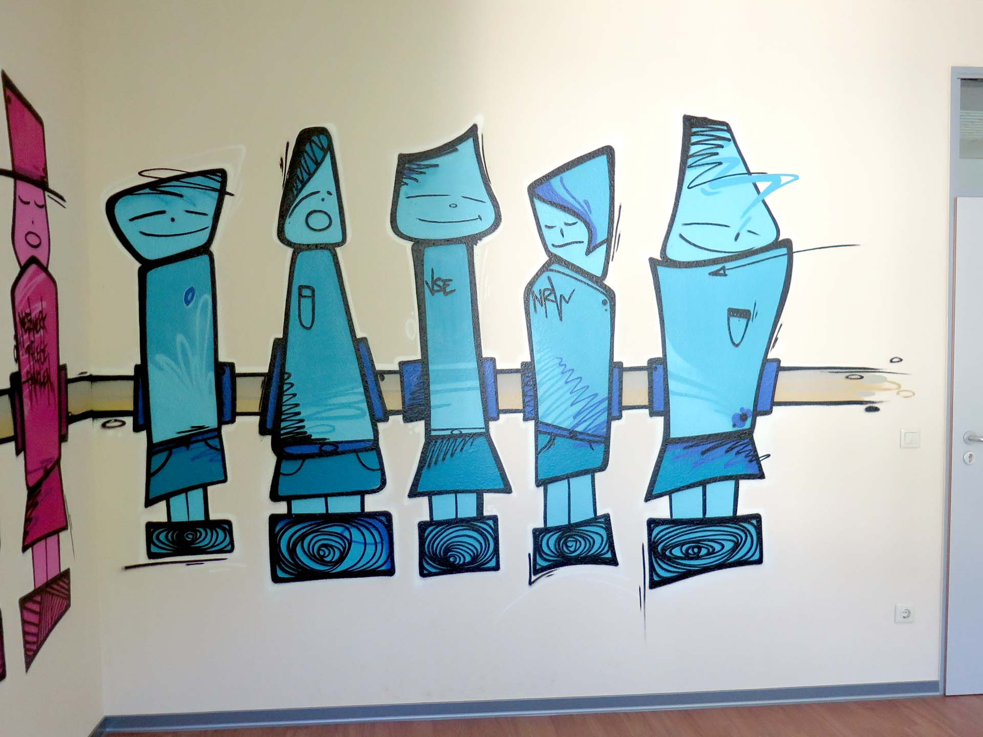 Firmen, Graffiti, Kunst, Laden, Urban, Design, Münster, Sprayer, Unternehmen, Bennet Grüttner, Studio Auckz