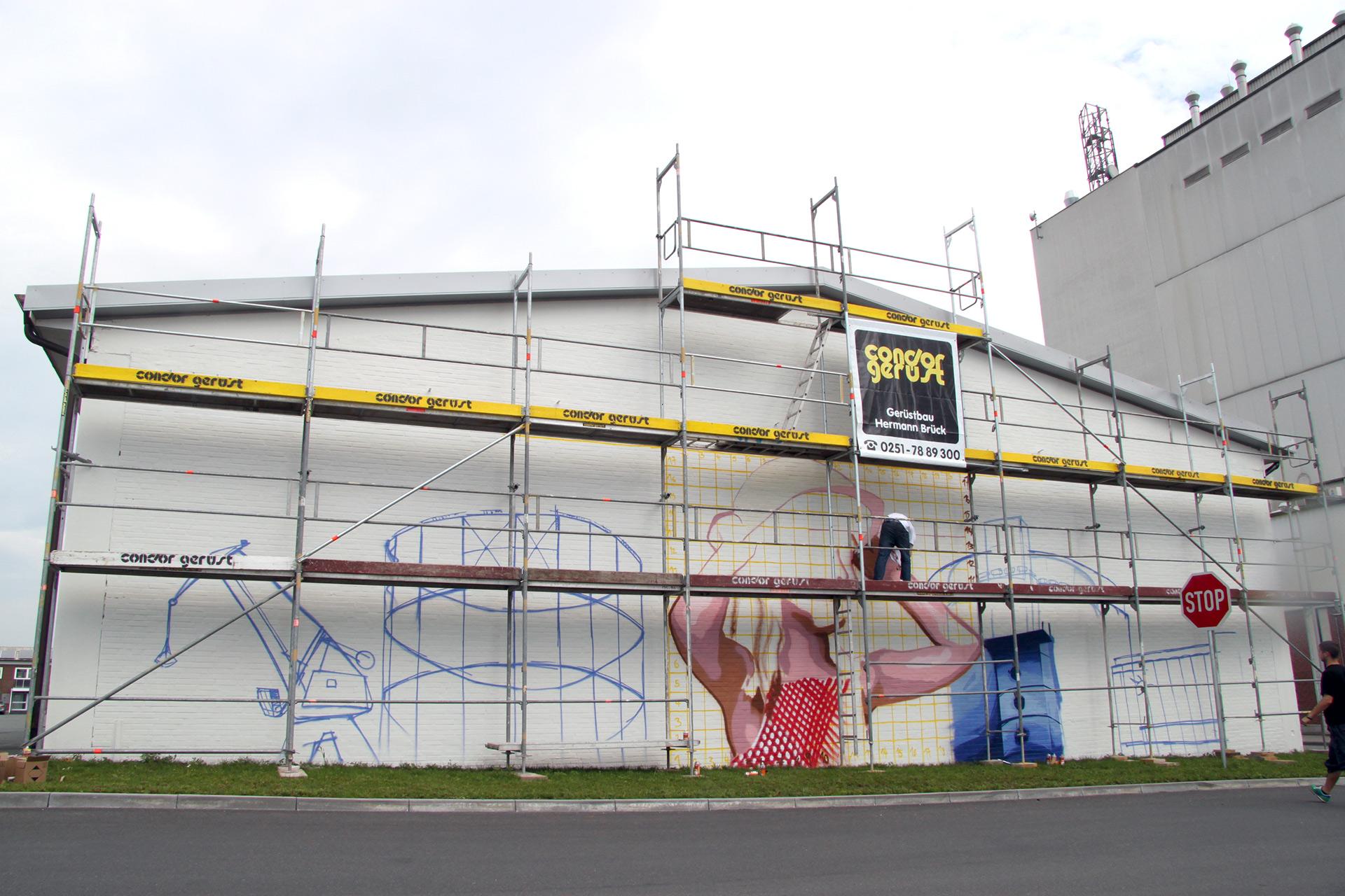 Agravis, Graffiti, Industrie, Kampagne, Raiffeisen, Industrieweg, Münster, Auckz, Studio, Bennet Grüttner