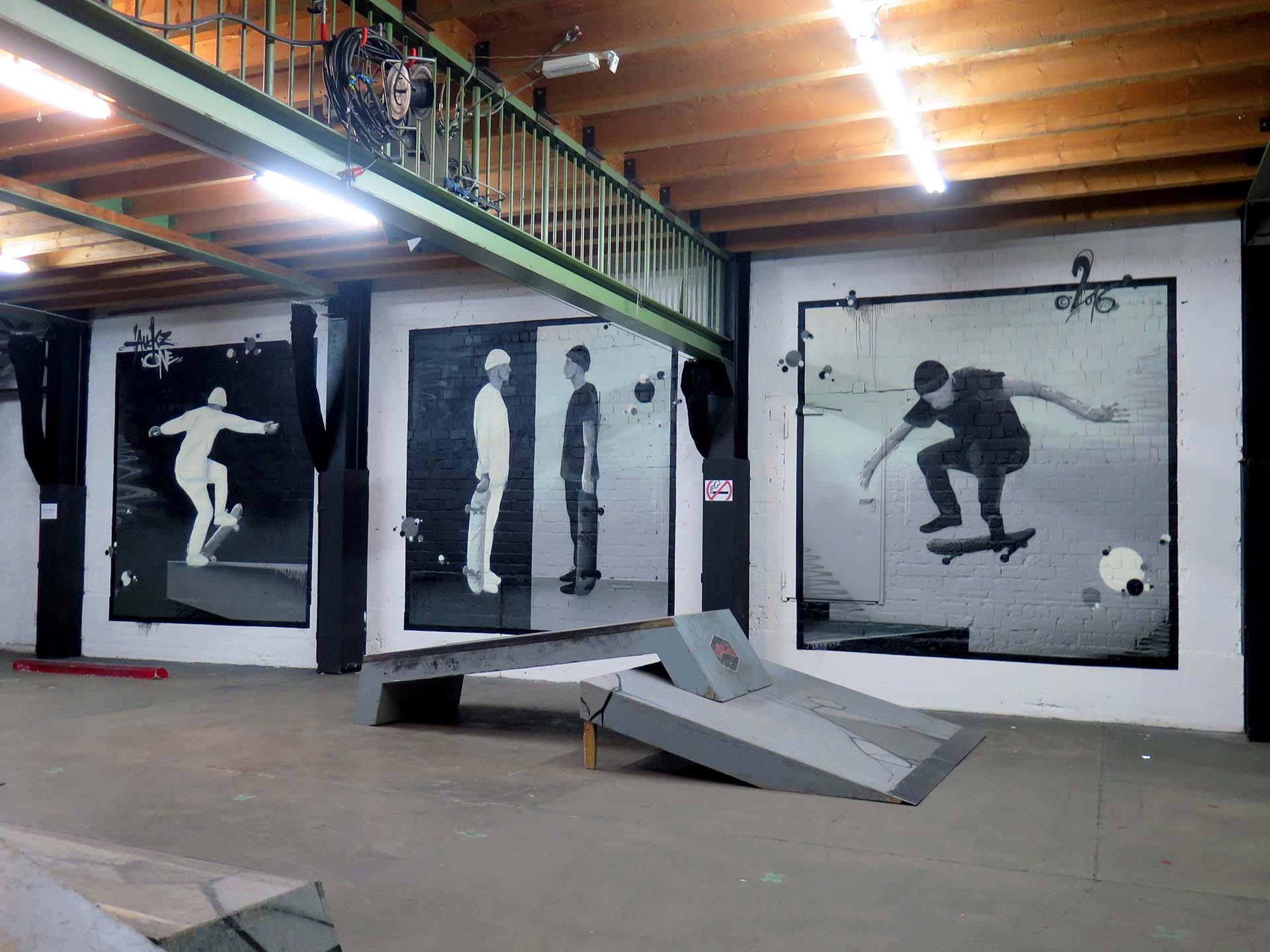 Skateboarding, Graffiti, Skater, Auckz, Münster, Skaters Place, Urban, Wand, Halle, Bennet Grüttner, Studio