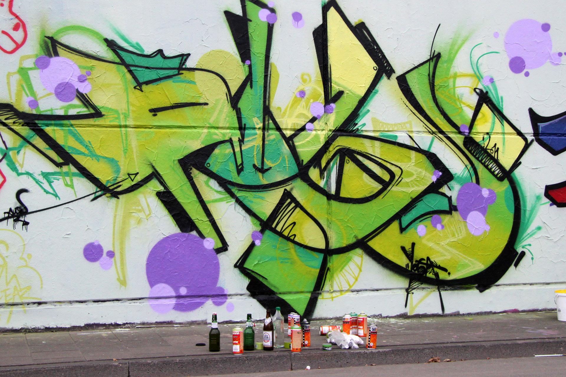 Auckz, Graffiti, Münster, Freie Arbeiten, Spray, Urban, Studio Auckz