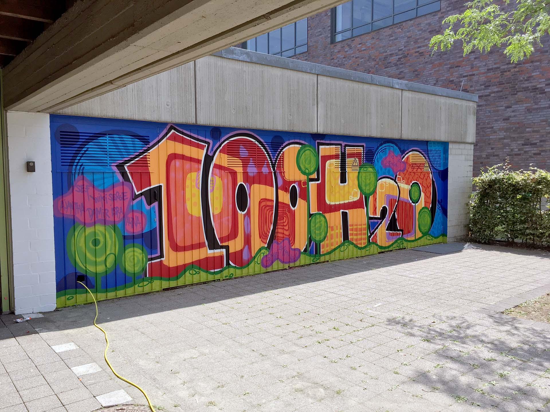 Graffiti-Workshops-Schulen-Jugend, Urban, Lernen, Sprayen, Bennet Grüttner