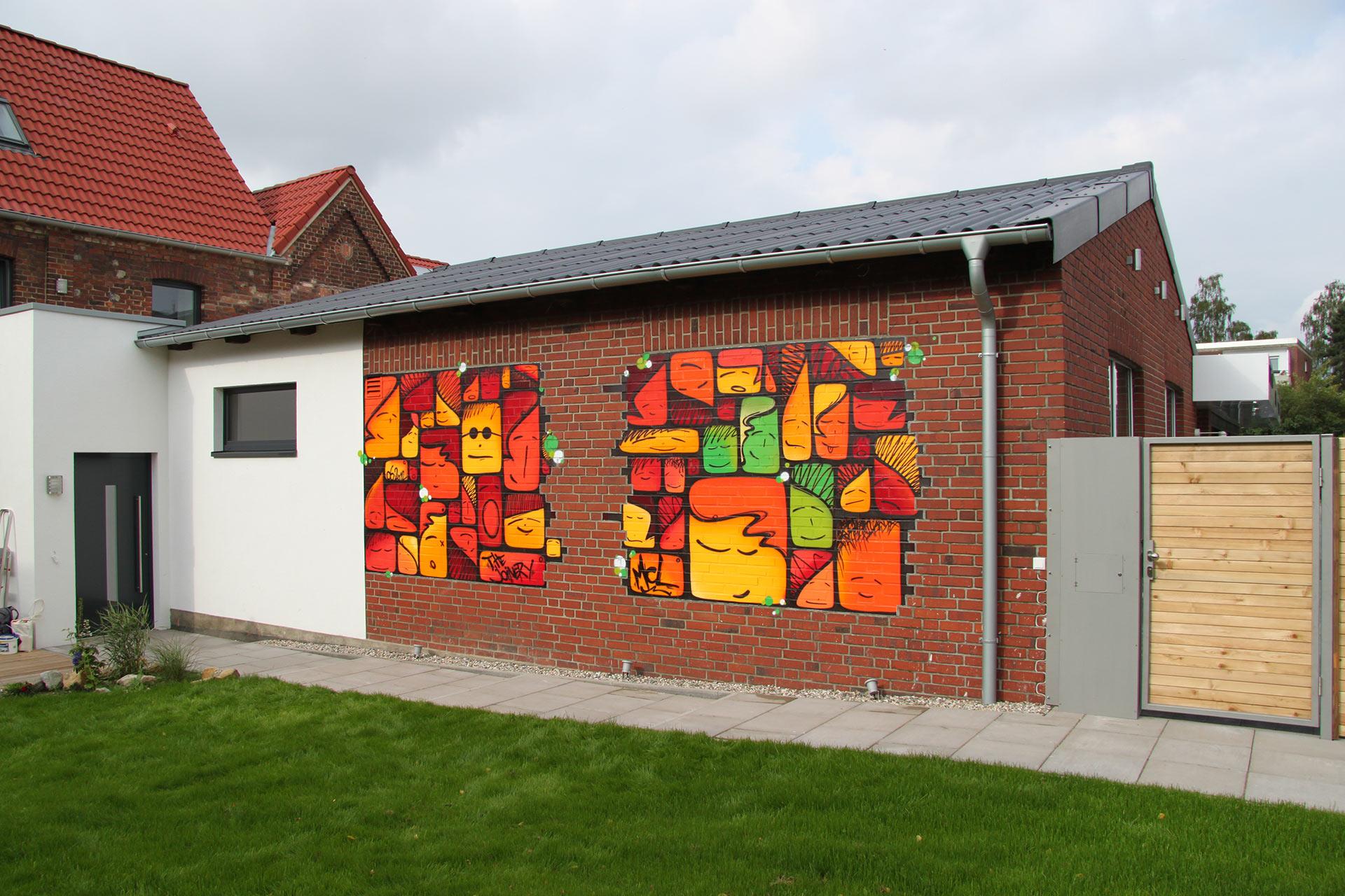 Graffiti-Gesichter, Münster, Graffiti, Figuren, Gesicht, Urban, Street-Art, Studio Auckz