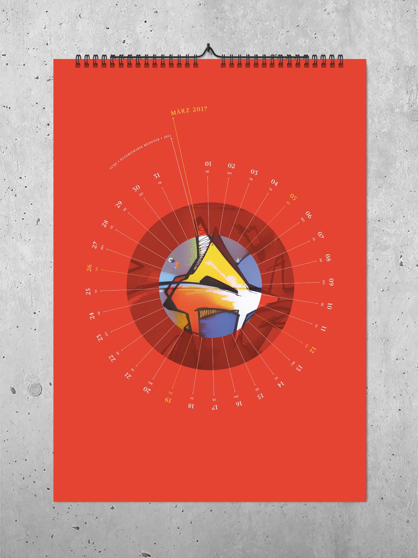 Kalender mit Graffiti und Design vom Künstler Auckz
