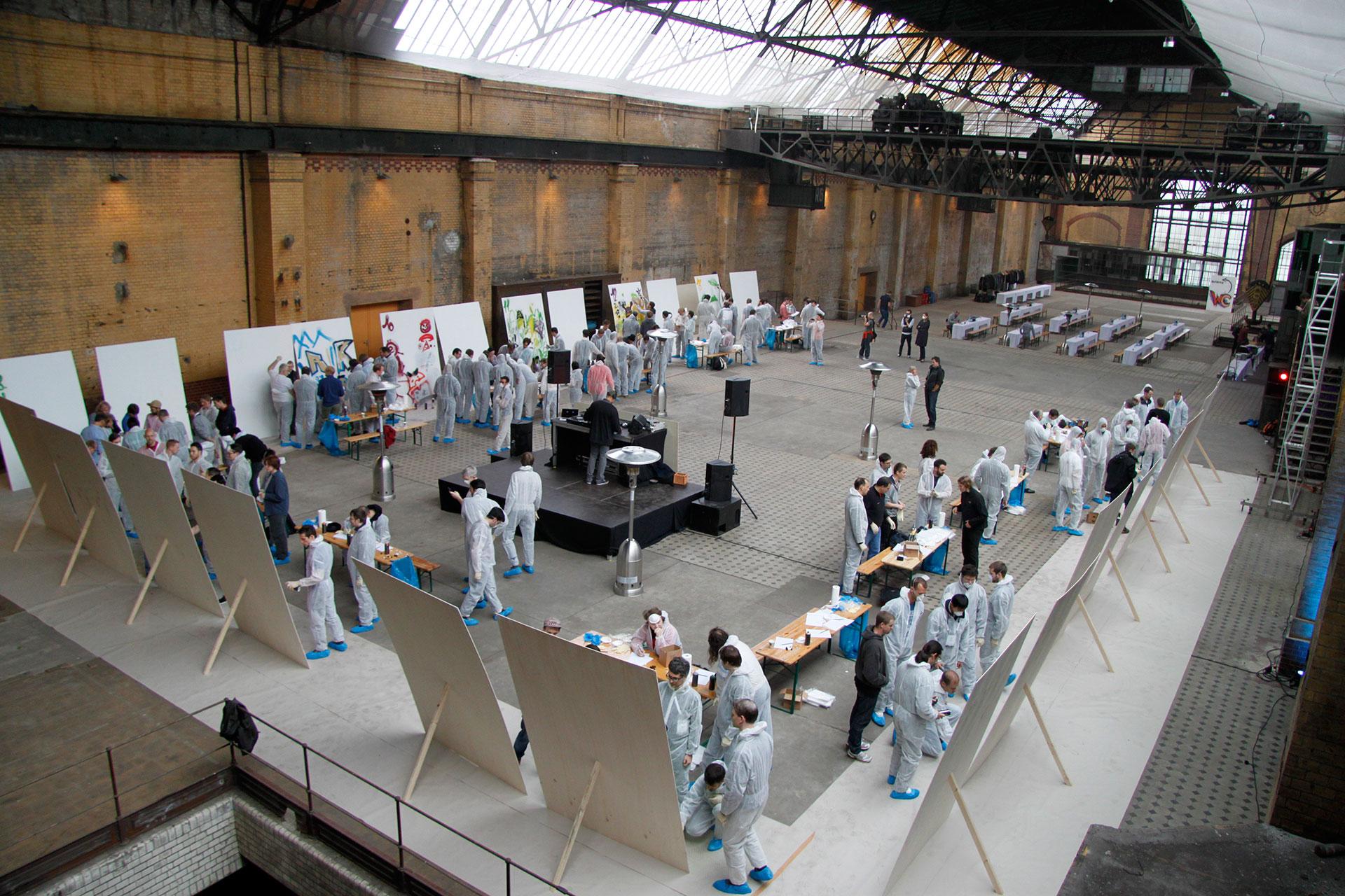 Google-Workshop, Graffiti, Chrome, Workshop, Berlin, Sprayen, Halle, Teambuilding, Bennet Grüttner, Studio Auckz