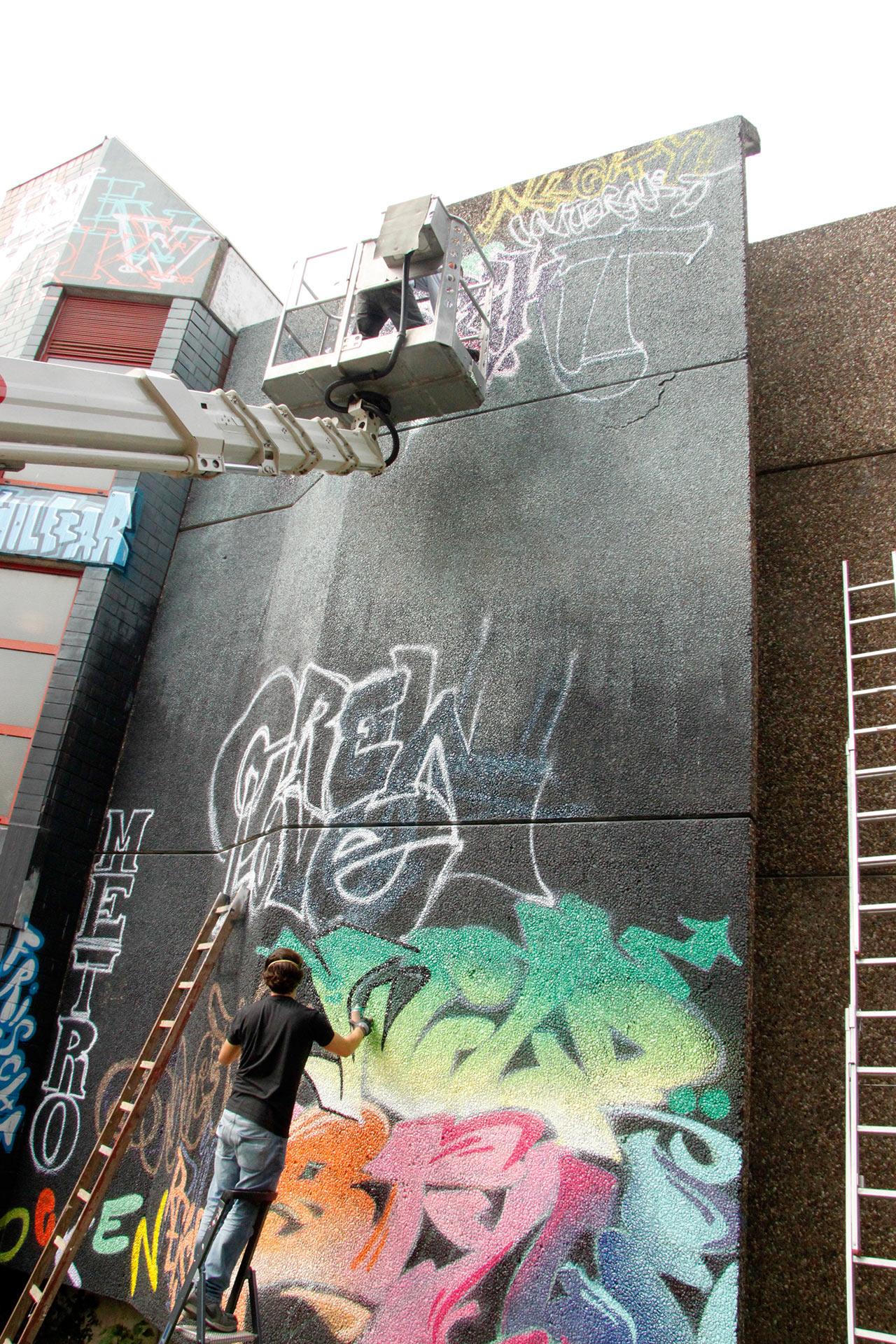 Graffiti, Mindmap, Bielefeld, Parkhaus, 800hoch2, Festival, Street-Art, Crew, Bennet Grüttner