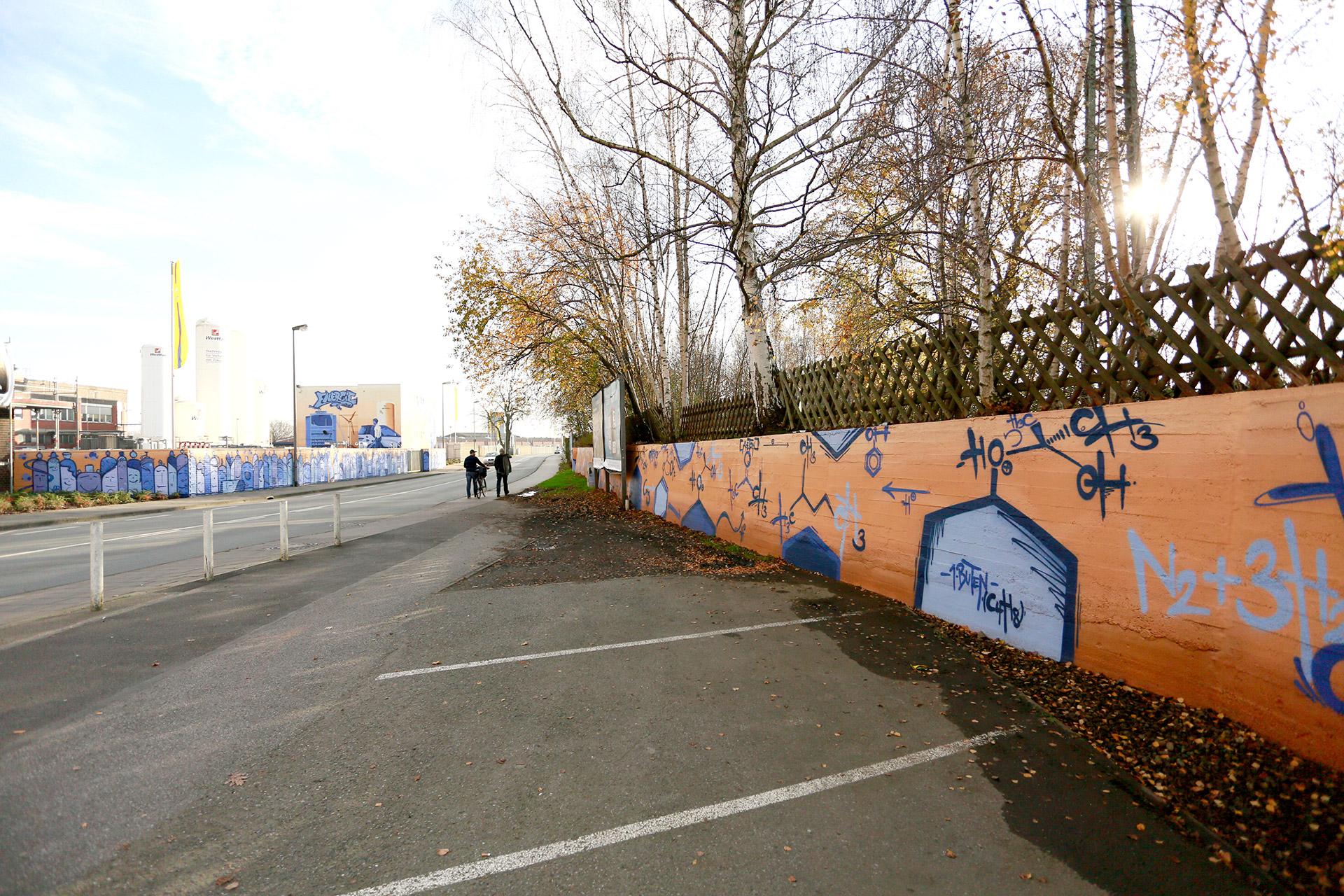 Westfalen Ag, Graffiti, Unternehmen, Münster, Auckz, Gasflaschen, Formeln, Sprayen, Industrieweg, Bennet Grüttner