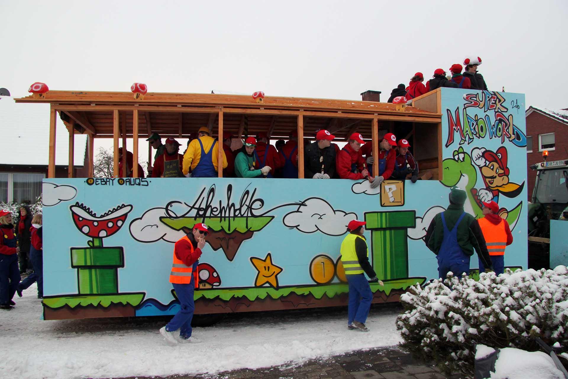 Karnevalswagen, Münster, Graffiti, Design, Kreativ, Motive, Bennet Grüttner, Umzug, Farbe, Bunt