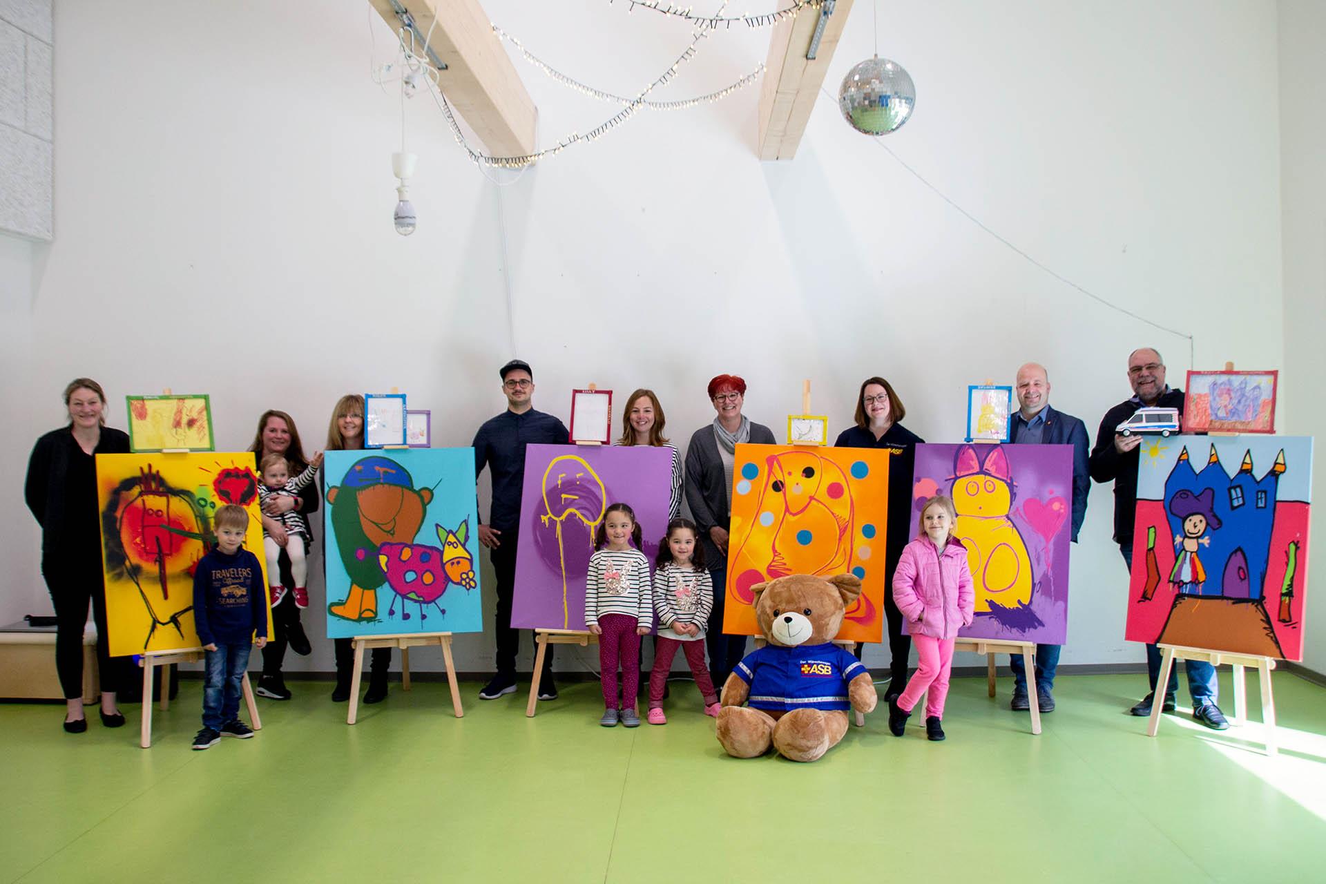 Spendenaktion mit dem Asb Münster –Graffiti, Kita, Workshop, Münster
