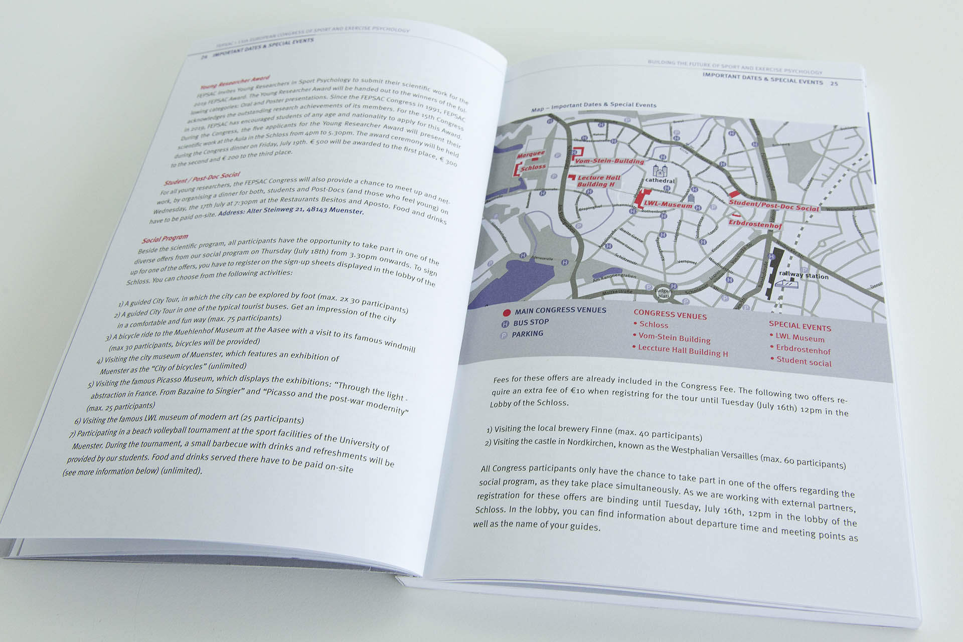 Editorial-Design, Layout, Kongress, Fepsac, Münster, Grafik, Universität, Sport, Auckz