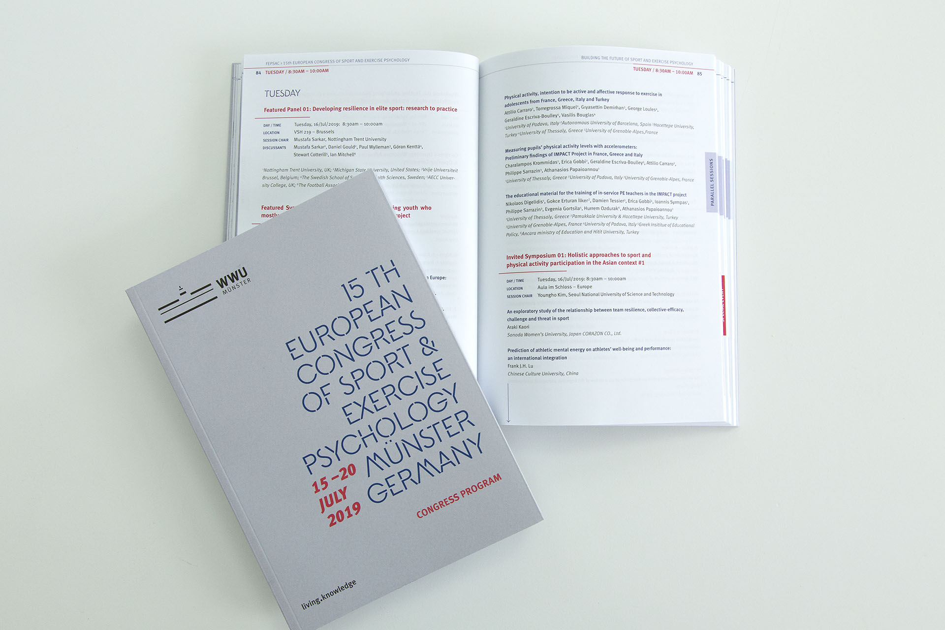 Editorial-Design, Layout, Kongress, Fepsac, Münster, Grafik, Universität, Sport, Auckz