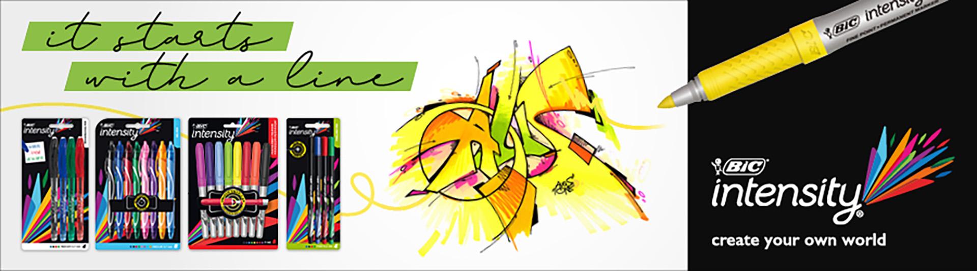 Kampagne, Testimonial, Graffiti, Design, BIC, Intensity, Auckz, Stifte, Pencil, Marker, Werbung, Bennet Grüttner, Auckz