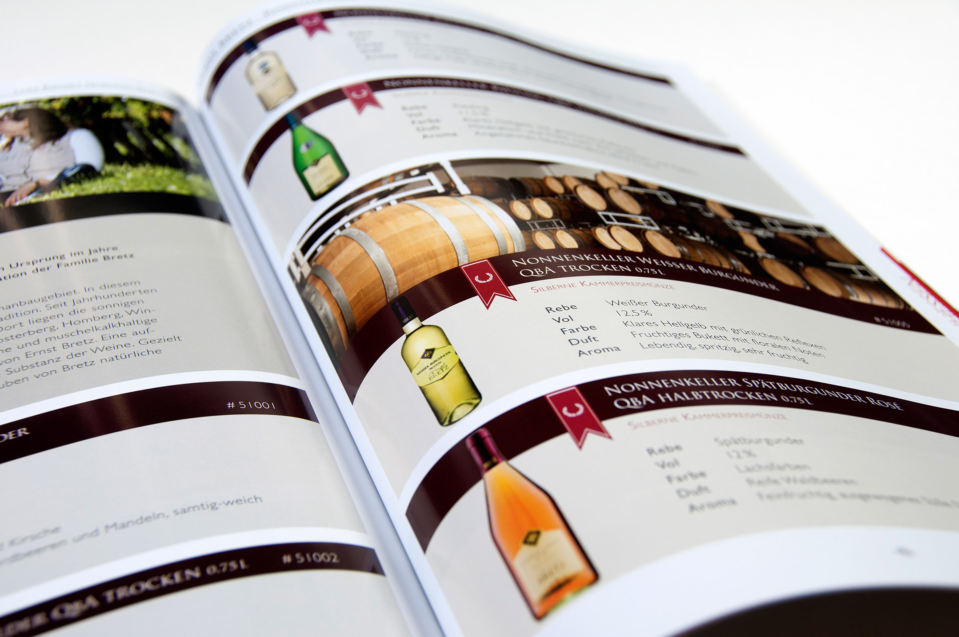 Weinkatalog Layout Giordano