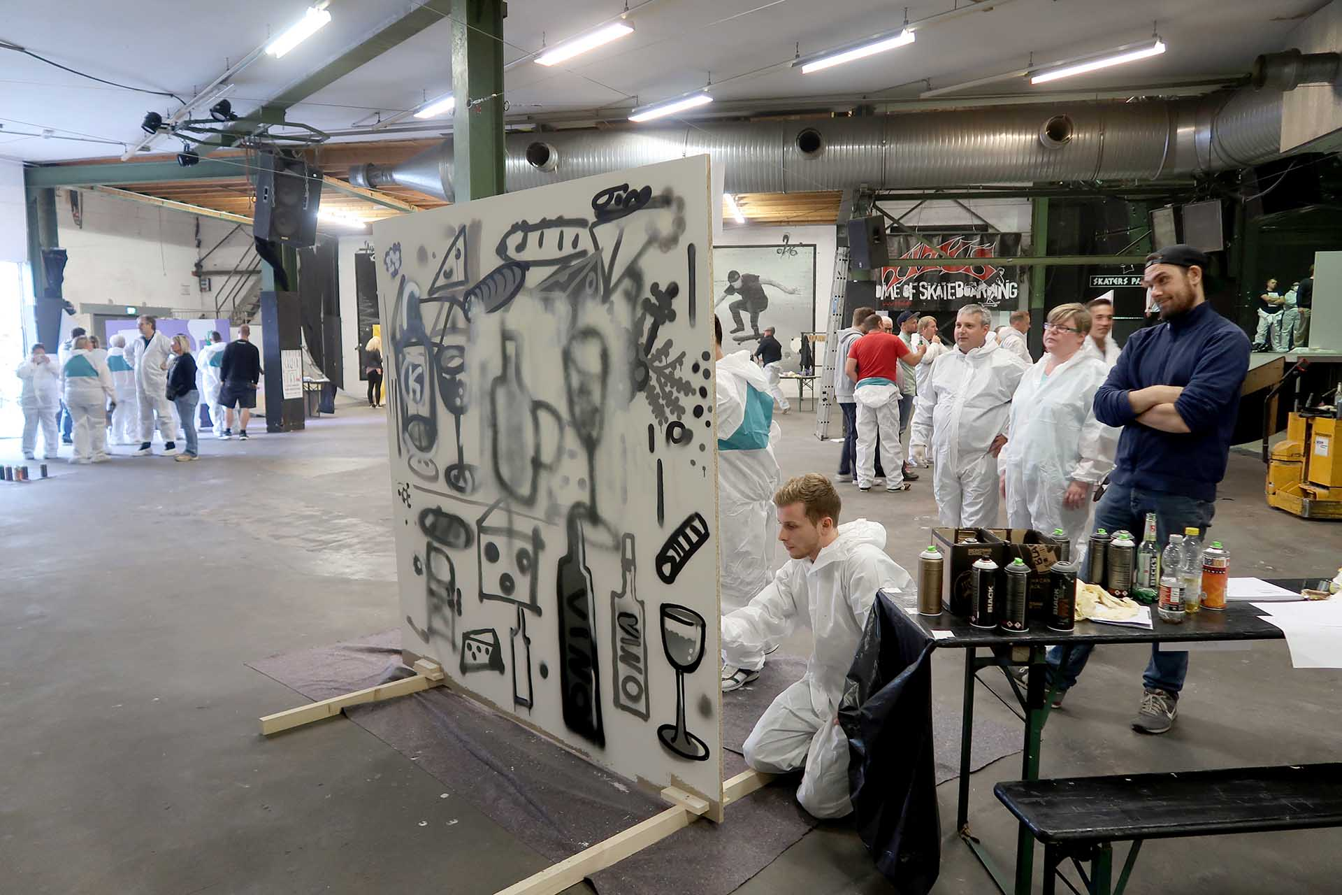 Graffiti Workshop, Skaters Palace, Sprayen, Lernen, Firma, Event, Team, Graffiti, Münster, Bennet Grüttner