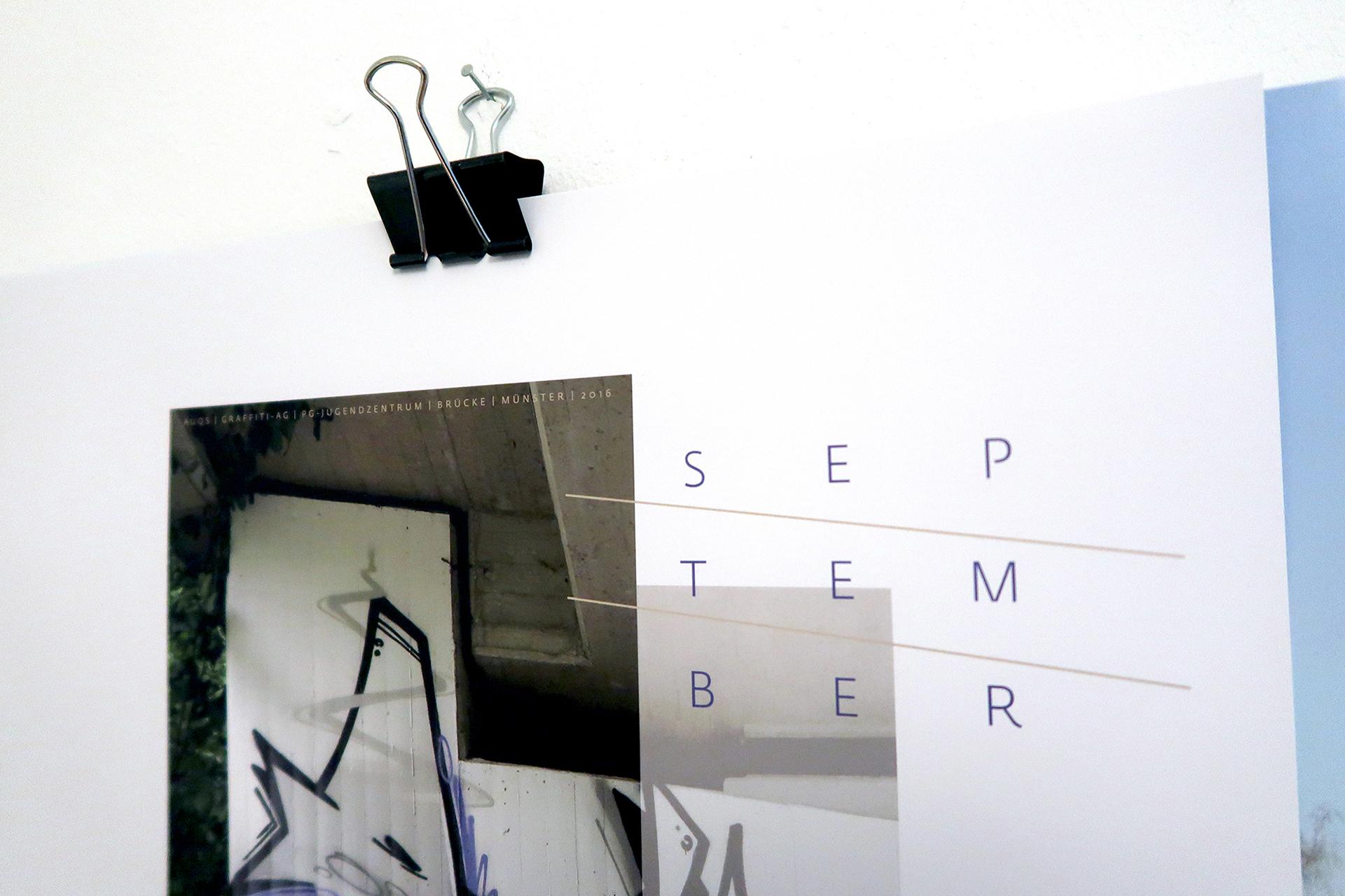 Designprojekt, Graffiti, Design, Kalender, 2019, Projekt, Münster, Bennet, Grüttner, Auckz, Format, Papier