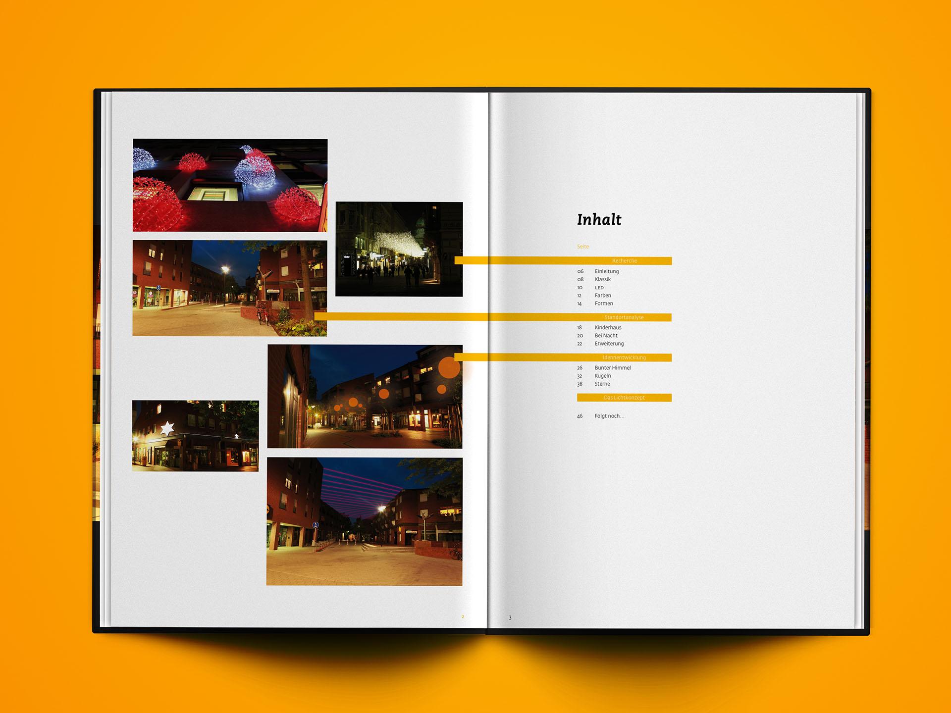 Lichtkonzept, Licht, Studie, Beleuchtung, Kinderhaus, Münster, Werbegemeinschaft, Design, Buch, Konzept, Bennet Grüttner