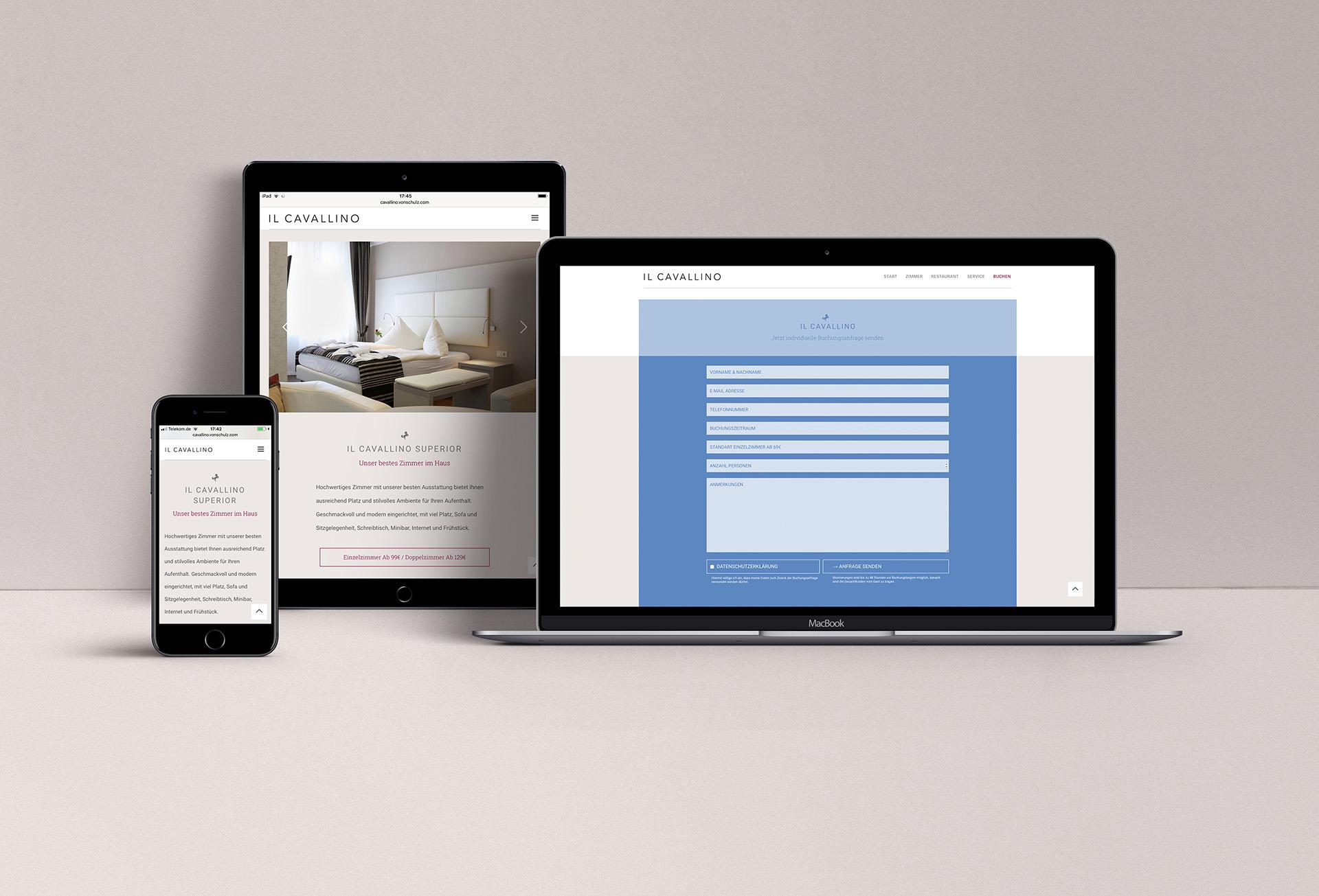 Webdesign, Il Cavallino, Konzept, Grafik, Layout, Logo, Warendorf, Hotel, restaurant, Bennet, Grüttner