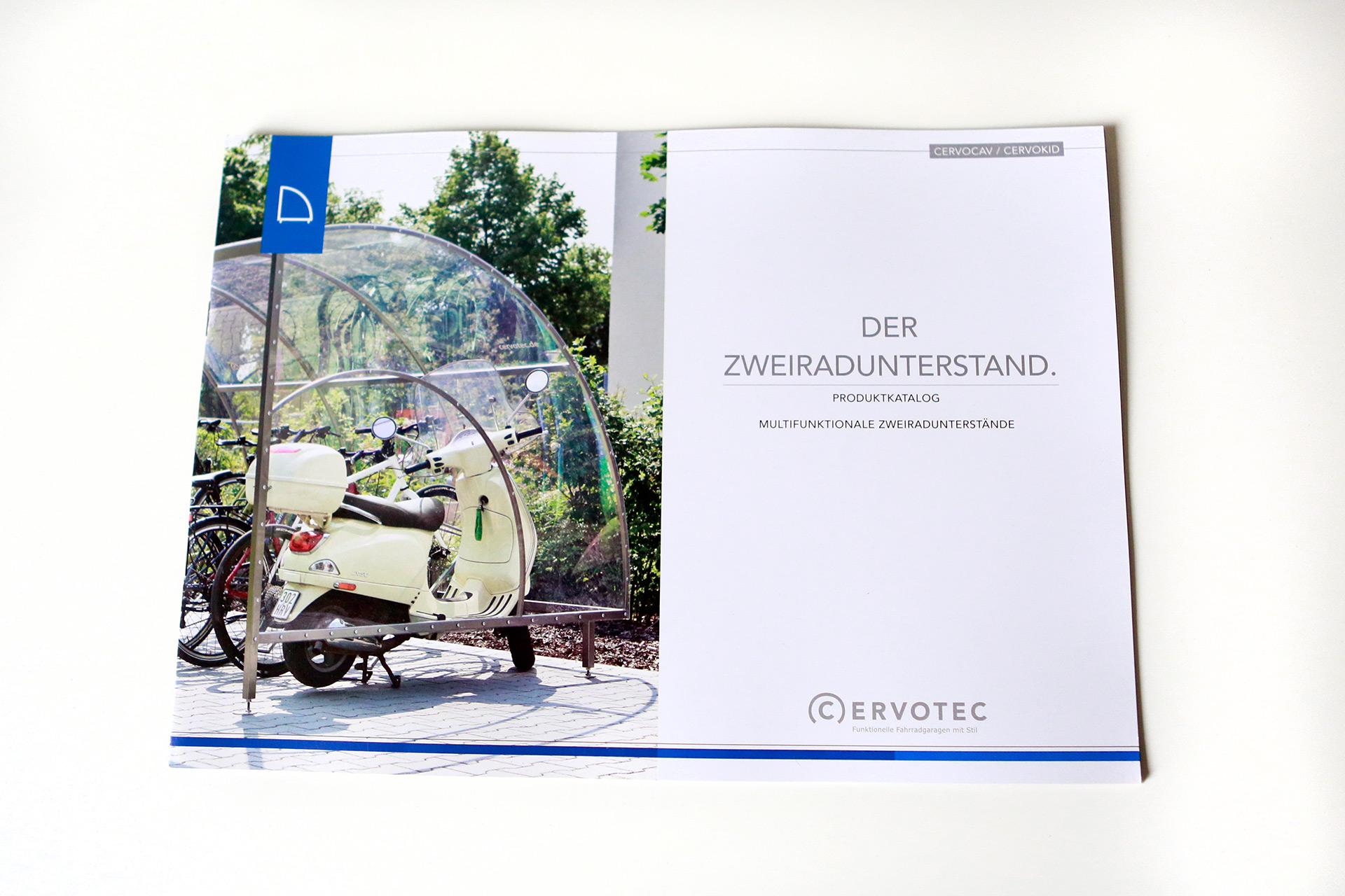 Cervotec, Corporate Design, Broschüre, Layout, Katalog, Design, Fahrradgaragen, Münster, Bennet Grüttner