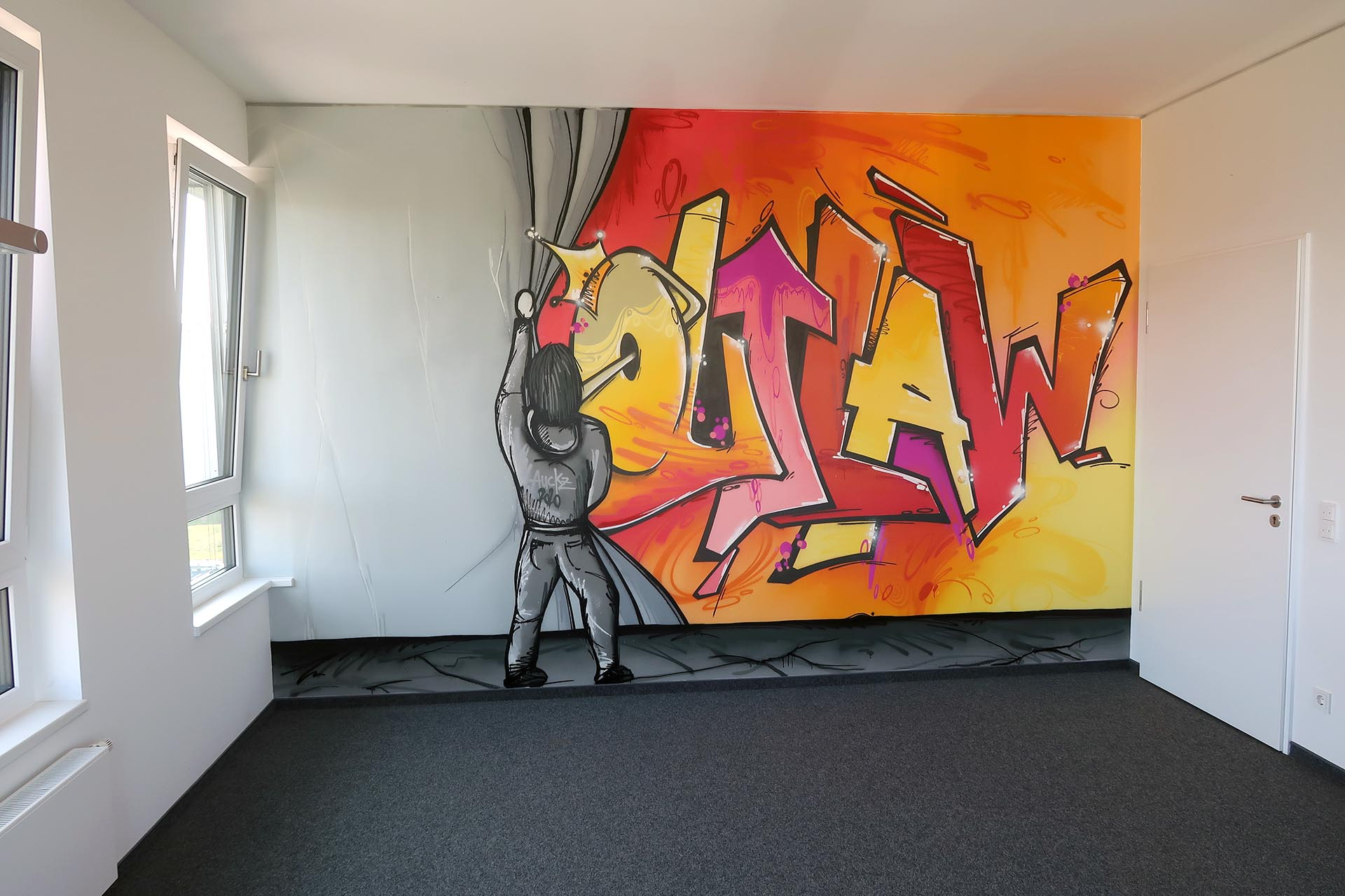 Graffiti, Münster, Studio, Auckz, Outlaw
