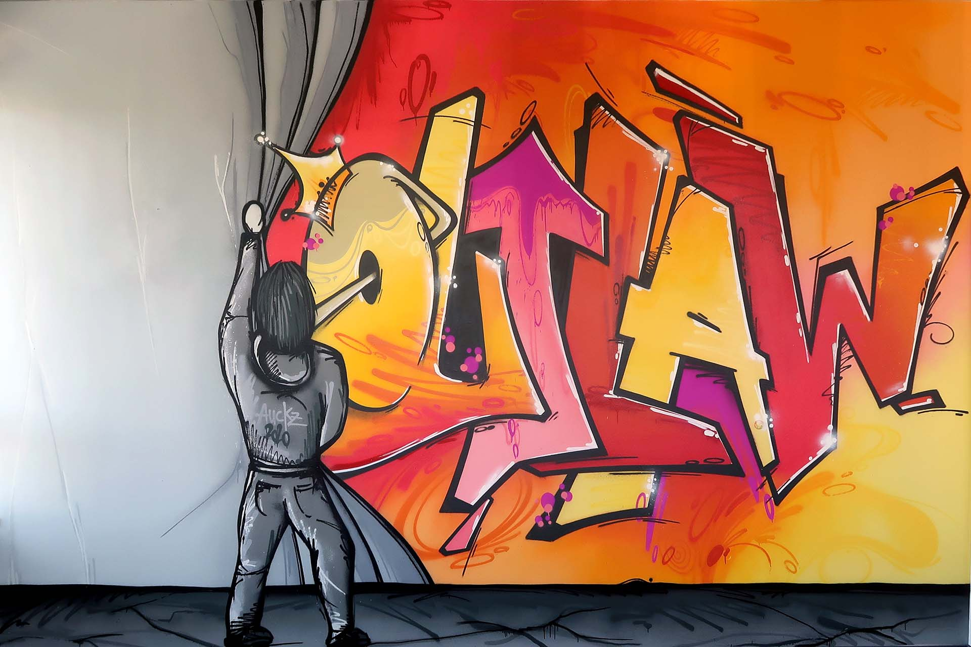Graffiti, Münster, Studio, Auckz, Outlaw