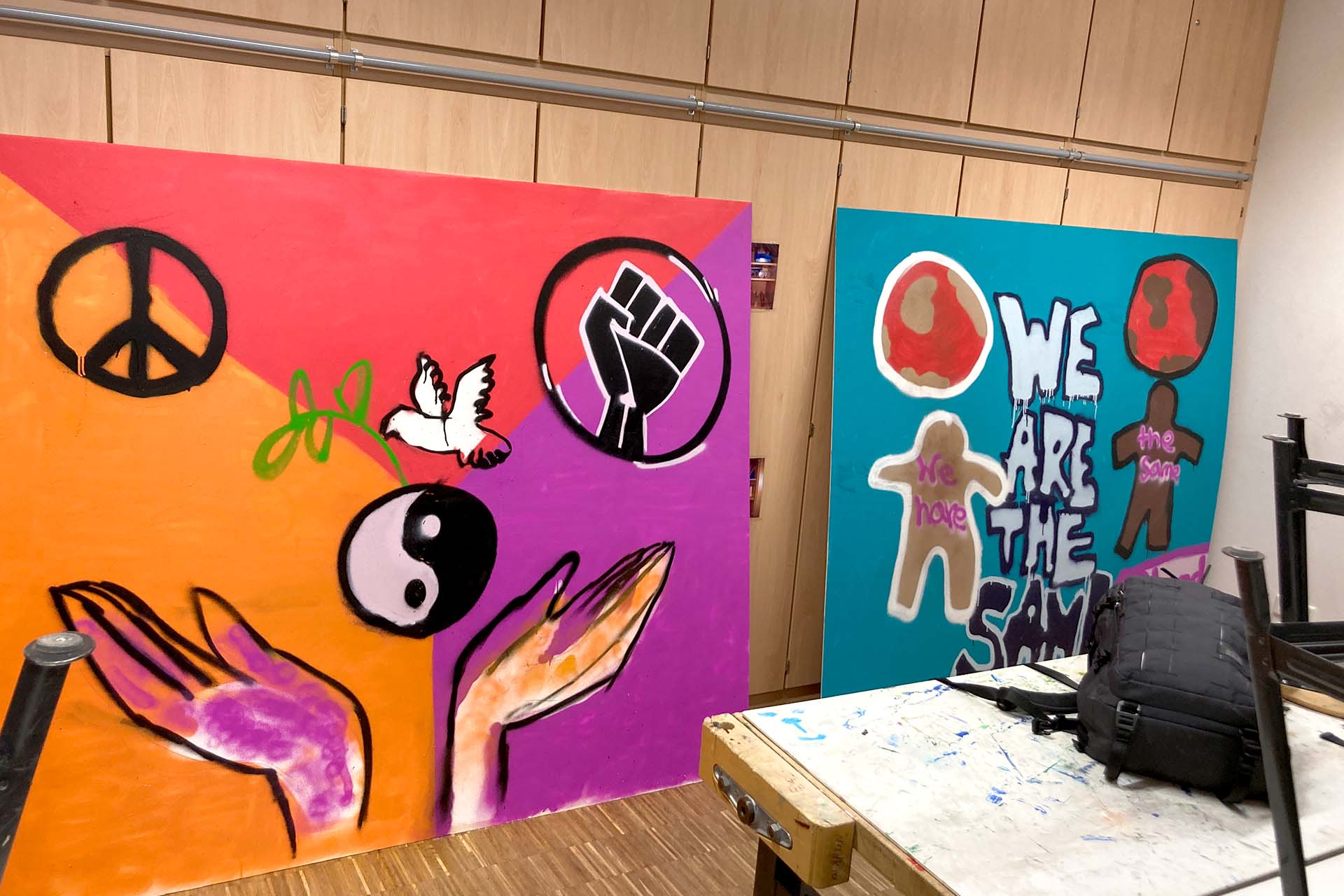 Graffiti Workshop Waldschule Münster