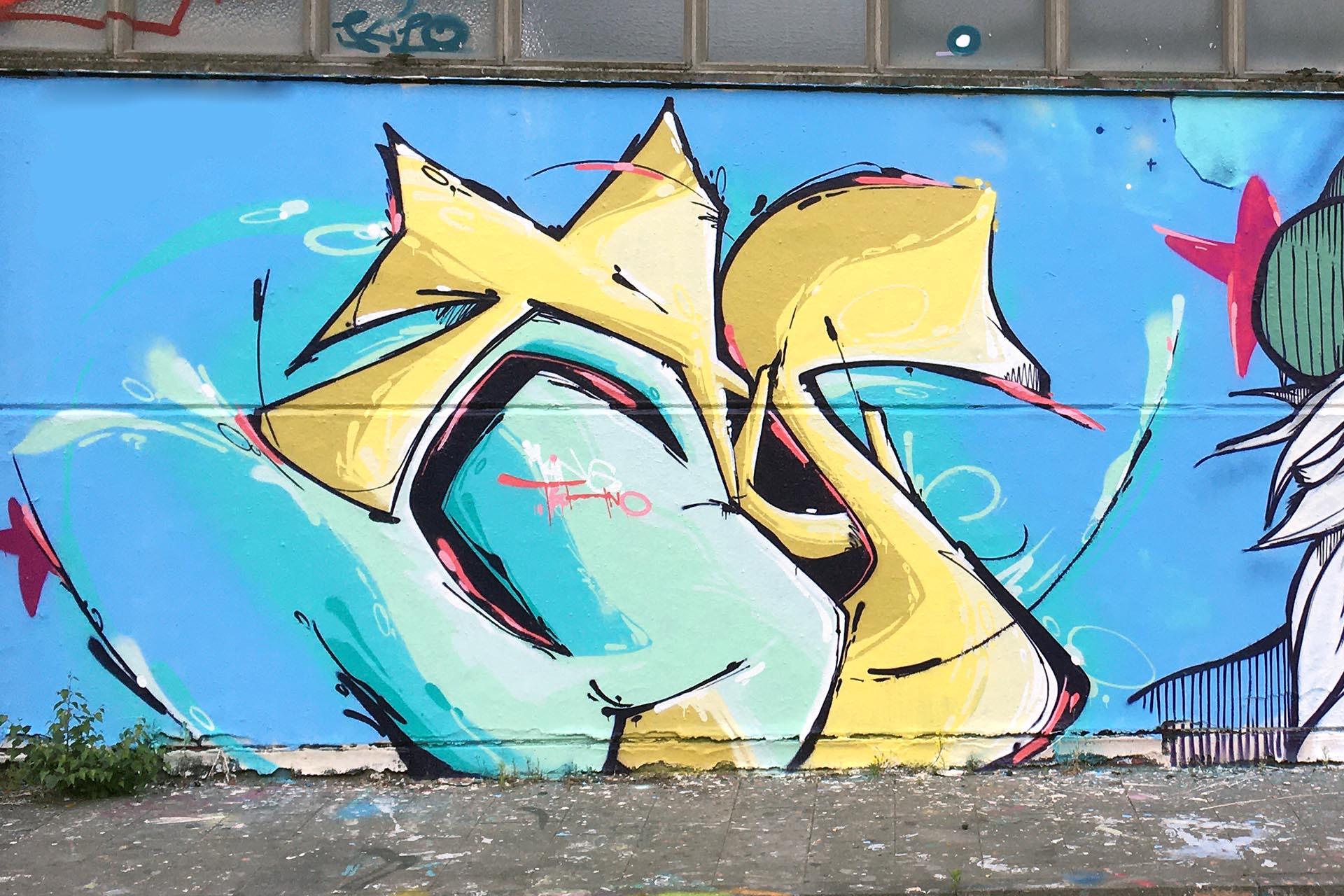 Graffiti Auckz Münster Wangestaltung