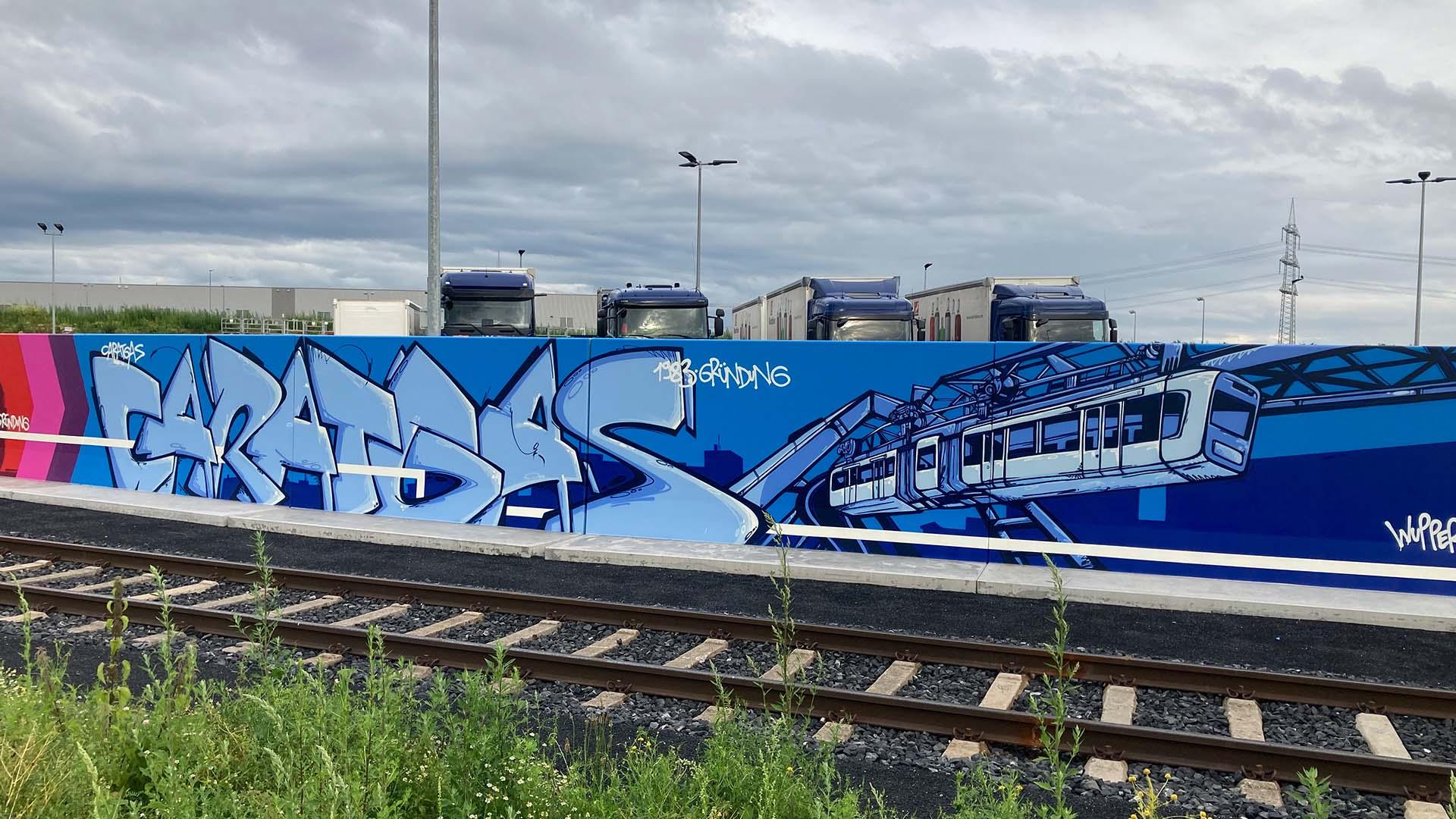 Schwebebahn, Graffiti, Caratgas, Unternehmen, Firma, Krefeld, Gaswerk